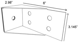 ( DL316SS-12 ) DECKLOK Bracket 316 Stainless Steel 12 Pack